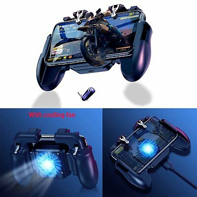 Gaming Grip PUBG Gamepad w/Cooling Fan Controller for Android/ios Mobile Phone