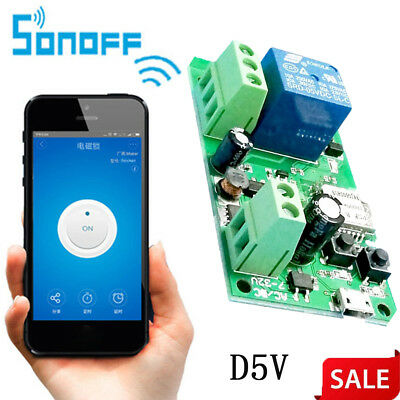 Sonoff Smart USB D12V DC5V Wifi Timer Switch Relay Module Support for Google