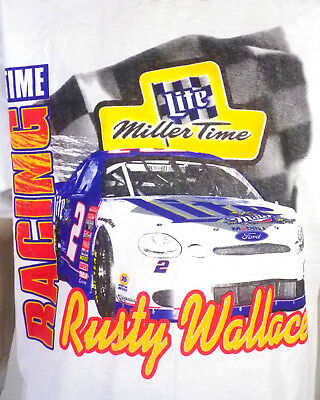 vintage 90s rusty wallace nascar mgd miller genuine draft racing