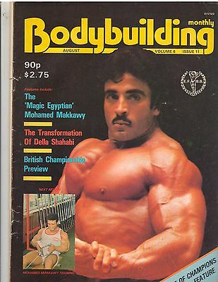 BODYBUILDING MONTHLY muscle magazine/Samir Bannout 8-83 Vol 6 Issue 11 (UK)
