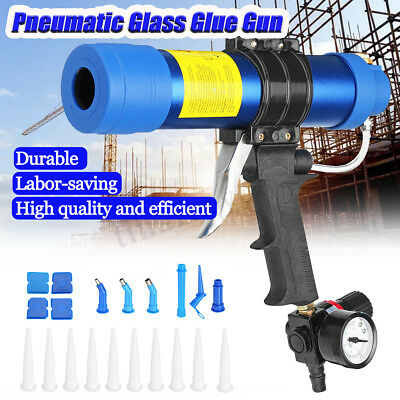 Air Caulking Gun Pneumatic Cartridge Dispenser Silicon Sealant Applicator 310ML