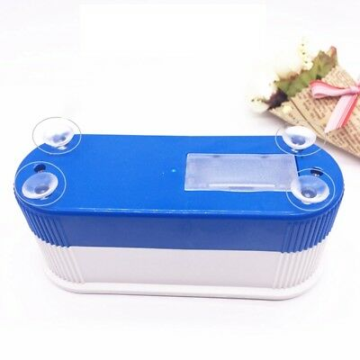 Blue Ultrasonic Jewelry Cleaner Denture Eye Glasses Coin Silver Cleaning Machine