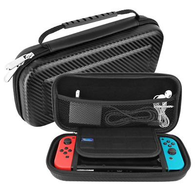 Travel Portable Bag Pouch Shell Nintendo Switch Carrying Case Hard Carbon Fiber