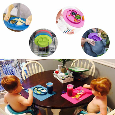 Silicone Baby Snack Mat Toddler Place mat Kids Happy Mat Suction Table Food Tray