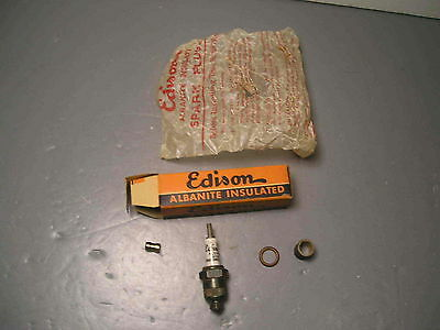 Vintage Edison Splitdorf Albanite Insulated Number 4 Spark Plug Antique Old