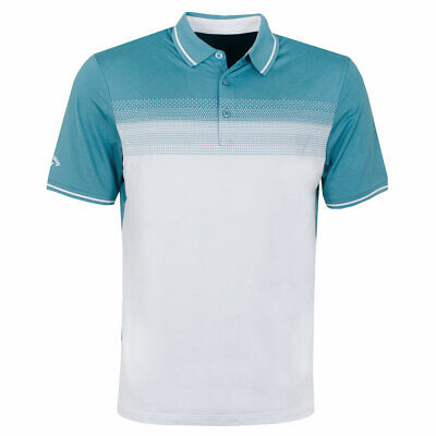 Callaway Golf Mens Two Jacquard Moisture Wicking Durable Polo Shirt 53% OFF RRP
