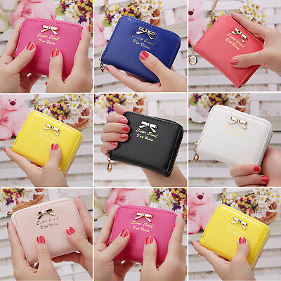 Fashion Women's Girls Leather Wallet Card Holder Coin Purse Clutch Handbag Small