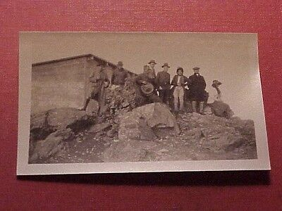 1920's Haleakala Summit Rest House Maui Group Photo TH Hawaii