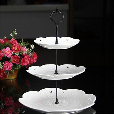 3 Tier Cake Stand Candy Fruit Tea Display Rack Festival Wedding Party Decoration