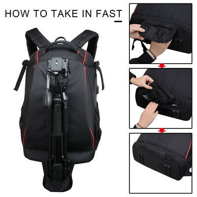 Camera Backpack Bag Waterproof Case Cover SLR DSLR For Canon/Nikon/Sony Latest