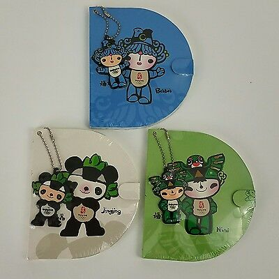 3 Yingying Beijing Olympics 2008 Note Pads & Keychains Collectible RARE, SEALED