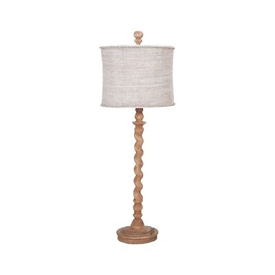 "GuildMaster 3516010 Honey Oak Barley Twist 1-Light 32"" Tall Accent Table Lamp"