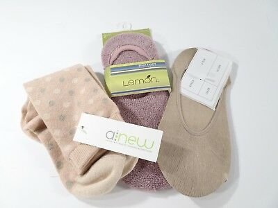 New Women 100/% Cotton Invisible Shoe Liner Socks Pair Set of 3 6 9 12 .UK 6-11