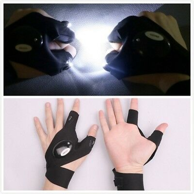 Outdoor Fishing Magic Fingerless Glove LED Flashlight Survival Torch Cover HI