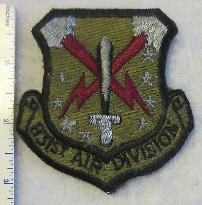 831st AIR DIVISION US AIR FORCE PATCH Subdued USAF Vintage ORIGINAL Used