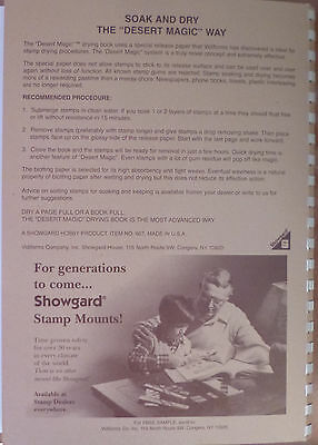SHOWGARD DESERT MAGIC II Large STAMP DRYING BOOK A4 Size 210 x 295mm