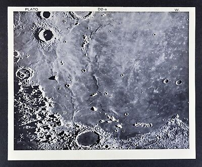 1960 Lunar Atlas Moon Map Photo Map - Plato D2-a Mount Wilson Observatory Crater