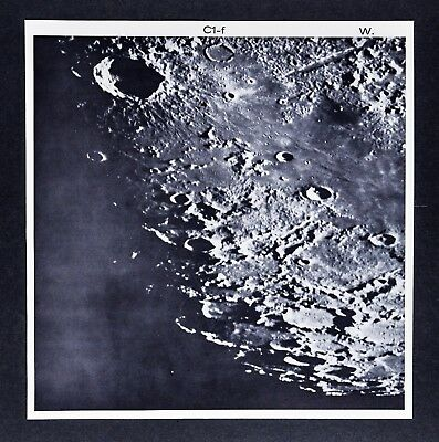1960 Lunar Moon Photo Map - Figoris West C1-f - Wilson Observatory Sept 5 1928