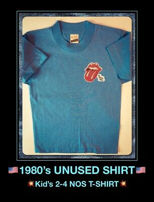 ROLLING STONES Rock Concert USA 70's Childs Childrens Kids Youth vtg NOS T-Shirt