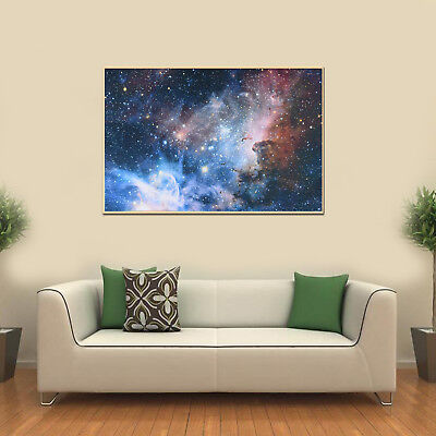 43x24in Universe Space Galaxy Planet Nebula Art Silk Cloth Poster Wall Decor~