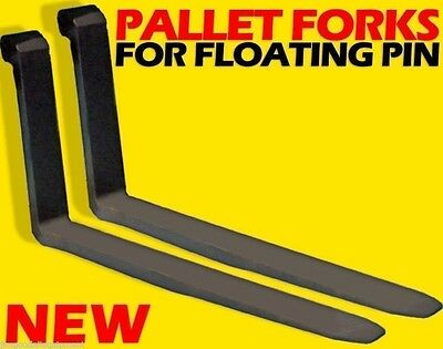 "JCB 2.25"" Pin Wheel Loader Mount Replacement Forks For Floating Pin 2X5X60"""