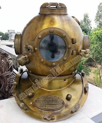 U.S Navy Mark V  Real Antique Vintage Marine Diving Divers Helmet Gift