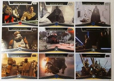 Star wars Galactic  Files 2012 HEROES ON BOTH SIDES  Card Sub Set of 10 TOPPS