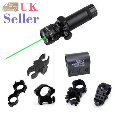 Hunting Tactical Green Dot Laser Sight Rail with Barrel Ring Mount For Airsoft