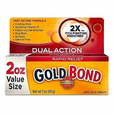 Gold Bond Rapid Relief Dual Action Medicated Anti-Itch Cream, 2 oz