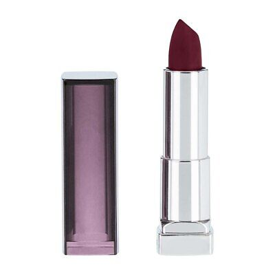 Maybelline Color Sensational Creamy Matte Lipstick, Divine Wine 695, 0.15 oz