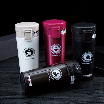 380ml Water Bottle Thermos Vacuum Travel Coffee Mug Insulated Tumbler Tea Cup