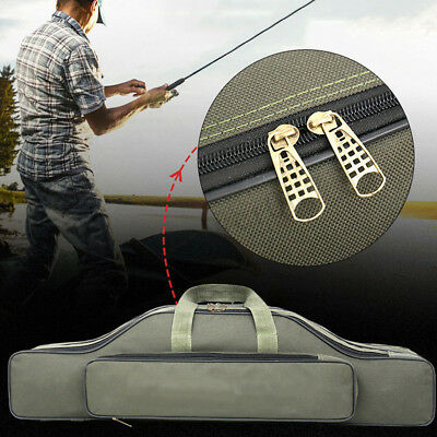 2/3 Layer Fishing Storage Durable Nylon Rod Holdall Case Bag Organizer Tackle