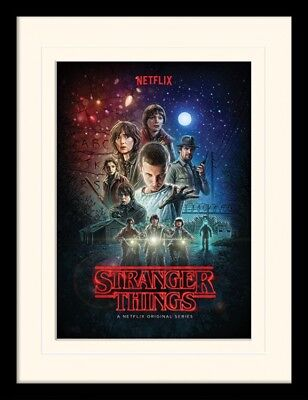 Stranger Things - One Sheet Poster Plakat Gerahmt (40x30cm) #117156