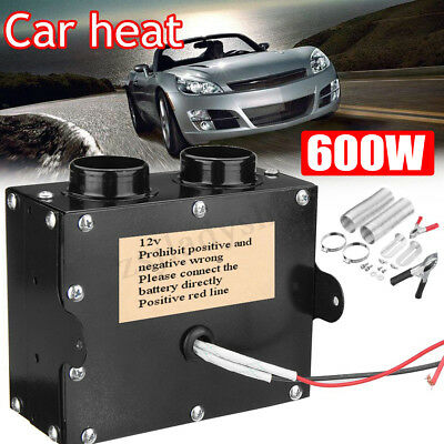 12V 600W 2 Hole Portable Car Heating Cooling Compact Heater Defroster Demister