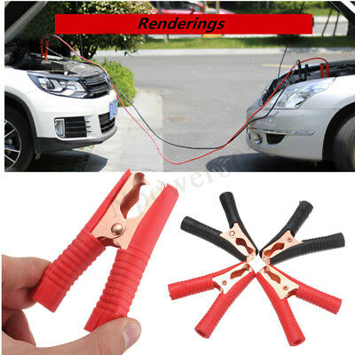 4Pcs 100A Electrical Crocodile Alligator Clips Car Battery Insulated Test