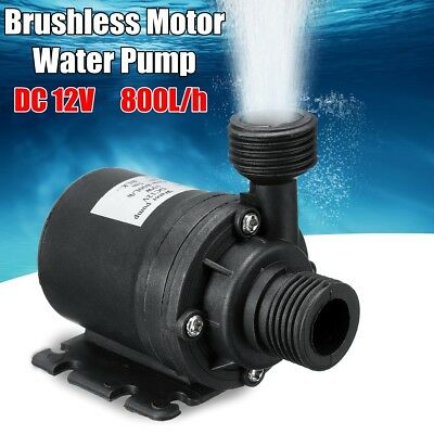 800L/H 12V DC 5M Hot Water Pump Solar Brushless Motor Mini Submersible Quiet