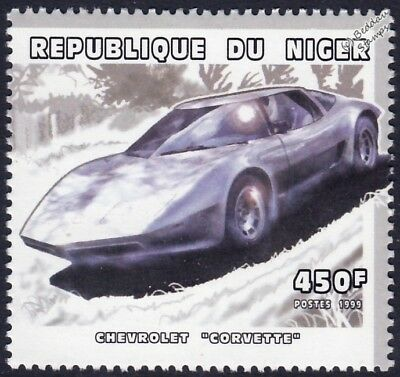 CHEVROLET CORVETTE Chevy Car Stamp (1999 Niger)