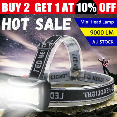 Elfeland 20000Lm COB LED Mini Headlamp Fishing Camping Headlight Head Lamp