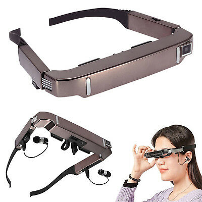 """80"""" Smart 3D VR Video Glasses Android 4.4 Bluetooth Virtual With 5MP HD Camera"""
