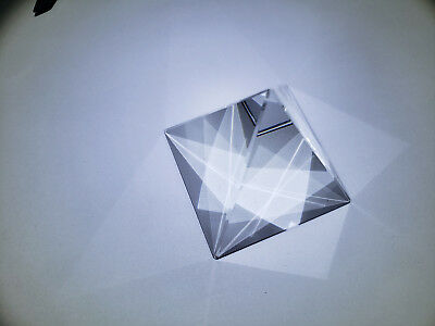 50mm K9 Optical Glass Four Sides Pyramid Tetrahedron Prism Experiment Instrument