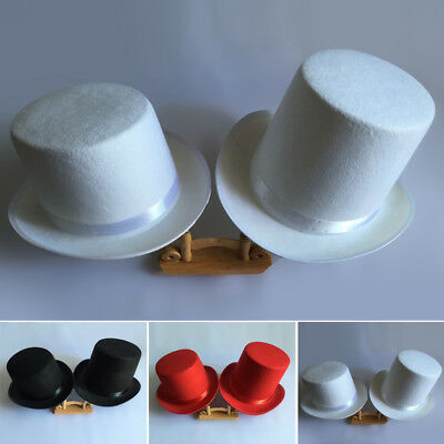 Mens Top Hat Magician Wedding Tuxedo Lincoln Ring Master Magician Performing Hat