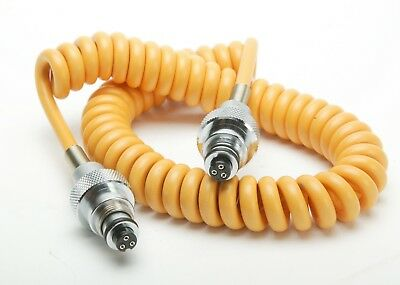 Ikelite Yellow Sync Cord For Nikonos Three Contact Strobe & Three Contact Camera