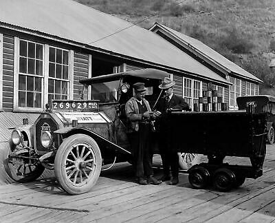 "1917 Hyatt Bearings Car, Wallace, Idaho Vintage Old Photo 8.5"" x 11"" Reprint"