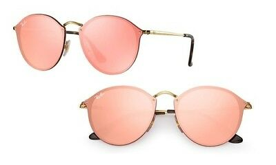 e04a4ee6822 BRAND NEW RAY-BAN RB3556N 001 Z2 Gold   Pink Octagon Mirror ...