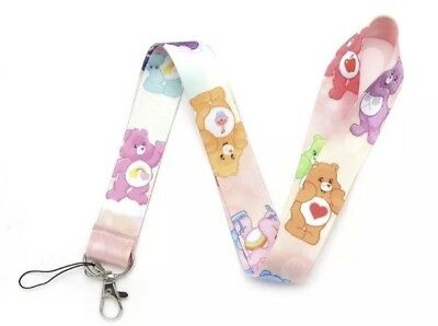 NEW! Care Bears Lanyard Keychain Bear Colors Collectibles Pink Cute