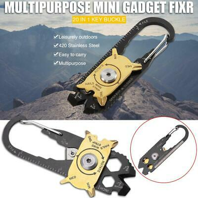 Mini Outdoor Multifunctional Key Gadget EDC Camping Tool Carabiner Pocket Tool