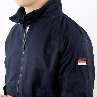 SUPERDRY HERREN GR. M Harrington Jacke Navy Blau