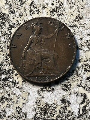 1912 Great Britain 1 Farthing (5 Available) Circulated (1 Coin Only)