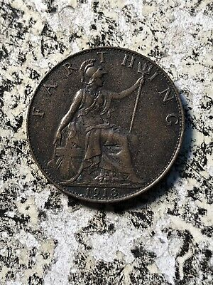 1913 Great Britain 1 Farthing (3 Available) Circulated (1 Coin Only)