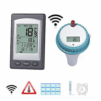 Wireless Thermometer In Swimming Pool Spa Lcd Display Floating Temperature Gauge